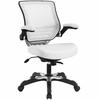 Edge White Vinyl Office Chair by Modway