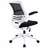 Edge Black Office Chair with White Base by Modway