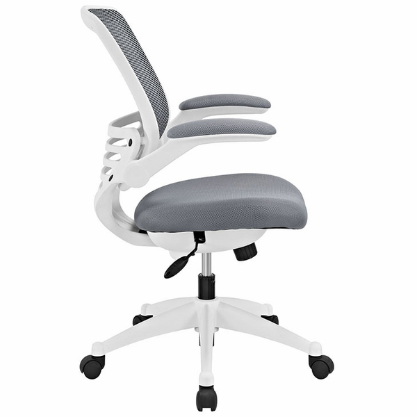 Edge Gray Office Chair with White Base by Modway