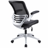 Edge Black Vinyl Upholstered Office Chair by Modway