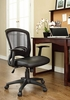Pulse Black Breathable Mesh/Vinyl Office Chair by Modway