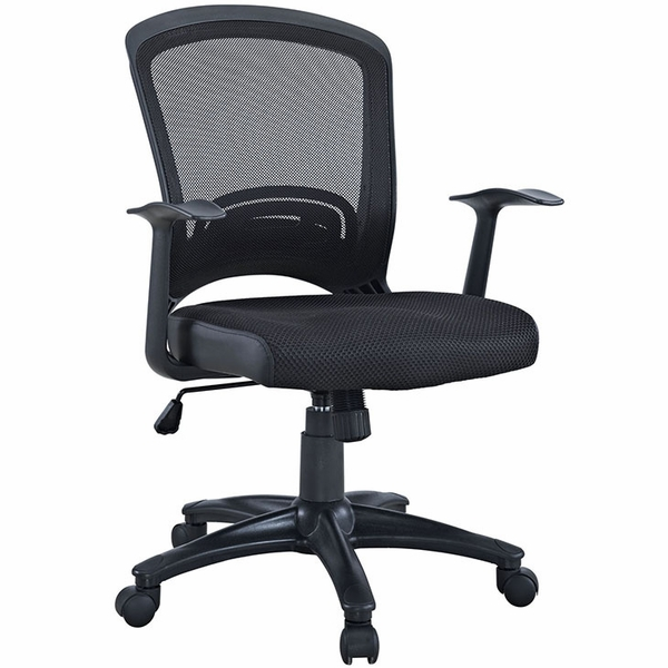 Pulse Black Breathable Mesh/Fabric Office Chair by Modway