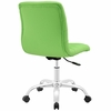 Ripple Bright Green Vinyl Armless Mid Back Office Chair by Modway