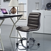 Ripple Brown Vinyl/Chrome Armless Mid Back Office Chair by Modway
