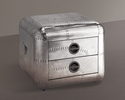 Brancaster Modern Aluminum Square End Table by Acme
