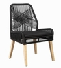 Sundance 2 Black Rope/Weathered Wash Wood Side Chairs by Coaster