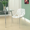 Stencil White Plastic Side Chair by Modway