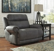 Signature Design Austere Gray Zero Wall Power Wide Recliner by Ashley