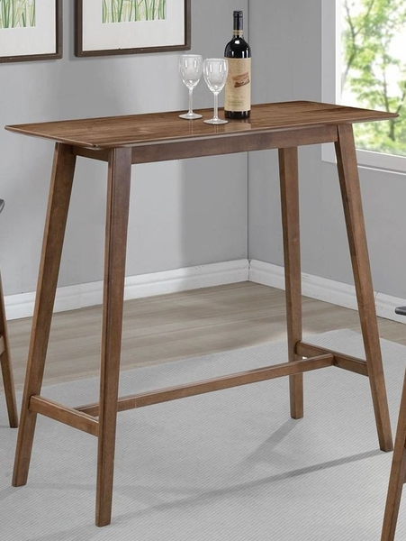 Barra Natural Walnut Wood Square Bar Table by Coaster