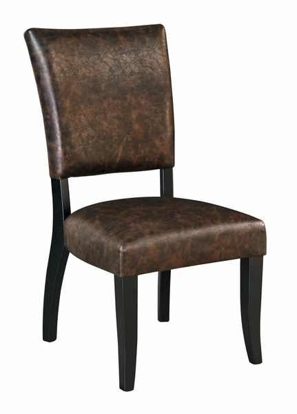 Signature Design Sommerford 2 Brown Faux Leather Side Chairs by Ashley