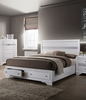 Chrissy White Solid Wood Queen Bed by Furniture of America