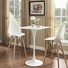 """Lippa White Wood/Metal 28"""" Square Bar Table by Modway"""