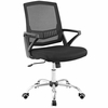 Proceed Black Padded Mesh/Chrome Base Mid Back Office Chair by Modway