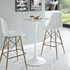 """Lippa White Artificial Marble/Metal 28"""" Round Bar Table by Modway"""