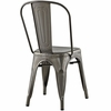 Promenade Gunmetal Powder Coated Steel Side Chair by Modway