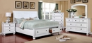 Castor White Solid Wood King Bed by Furniture of America