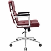 Portray Red Vinyl/Chrome Steel Highback Office Chair by Modway