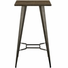 Direct Brown Bamboo/Metal Square Bar Table by Modway