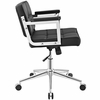 Portray Black Vinyl/Chrome Steel Mid Back Office Chair by Modway