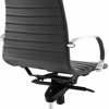 Groove Gray Vinyl/Aluminum Frame Ribbed Back Office Chair by Modway