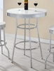 Cleveland Chrome Plated Bar Table with White Top by Coaster