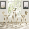 Track White Wood Round Bar Table by Modway