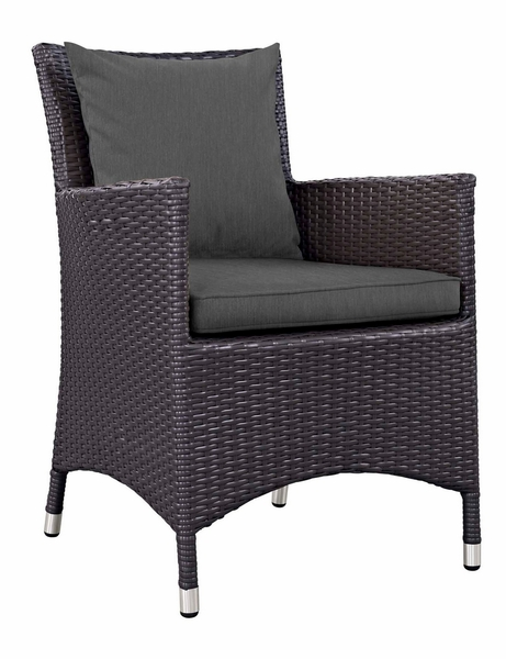 Convene Espresso/Charcoal Fabric Outdoor Armchair by Modway