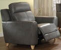 Cayden Gray Leather-Aire Match Power Recliner by Acme