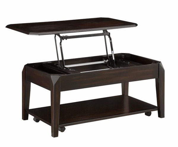 Aristides Walnut Wood Lift Top Coffee Table by Coaster