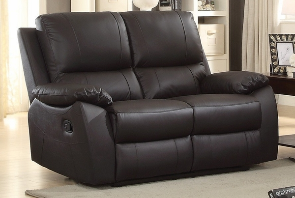 Greeley 3-Pc Brown Leather Manual Recliner Sofa Set by Homelegance