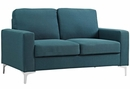 Allure 2-Pc Blue Soft Fabric Sofa Set by Modway