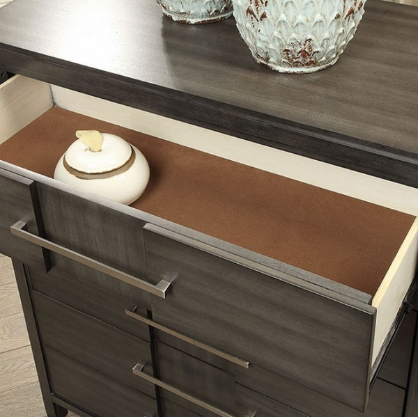 Berenice Gray Solid Wood Chest by Furniture of America