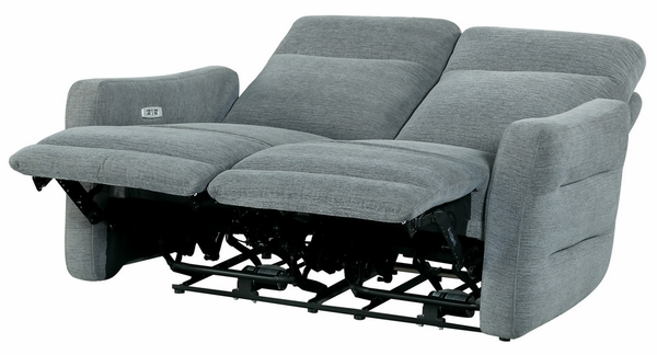Edition Dove Grey Fabric Power Recliner Loveseat by Homelegance