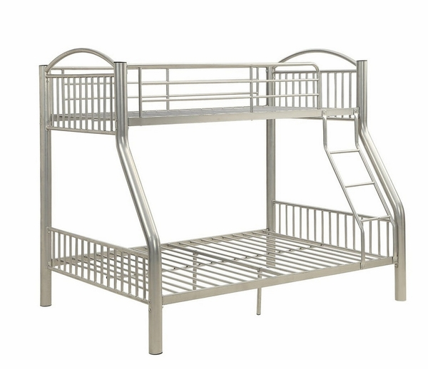 Cayelynn Silver Metal Tube Twin/Full Bunk Bed by Acme