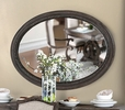 Arcadia Rustic Natural Tone Frame Oval Mirror by Furniture of America