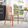 Astro Orange Plastic Side Chair by Modway