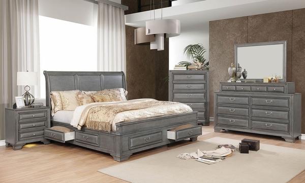 Brandt Gray Wood Chest by Furniture of America