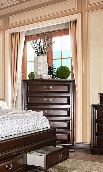 Brandt Brown Cherry Wood Chest by Furniture of America