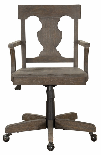 Toulon Brown Wood Office Chair by Homelegance