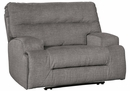 Benchcraft Coombs Charcoal Fabric Wide Seat Power Recliner by Ashley