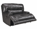 Signature Design McCaskill Gray Wide Seat Manual Recliner by Ashley