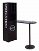 Mant Black Metal Bar Table with Cabinet by Acme