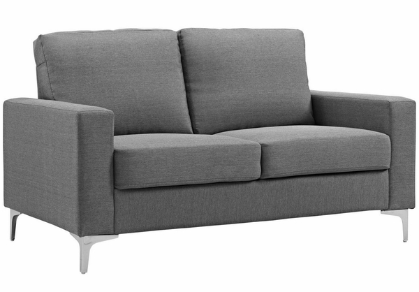 Allure 3-Pc Gray Soft Fabric Sofa Set by Modway
