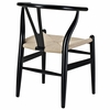 Amish Black Wood Dining Arm Chair by Modway