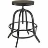 Collect Black Wood/Metal Counter Height Stool by Modway