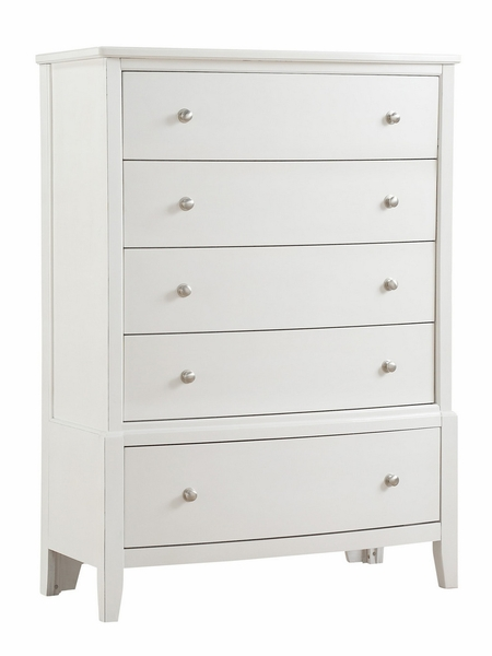Cotterill Antique White Wood 5-Drawer Chest by Homelegance