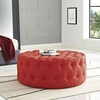 Amour Atomic Red Fabric Upholstered Ottoman by Modway