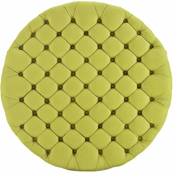 Amour Wheatgrass Fabric Upholstered Ottoman by Modway