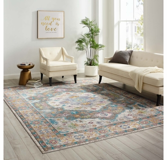 Success Anisah Gray Distressed Floral Persian Large Area Rug By Modway