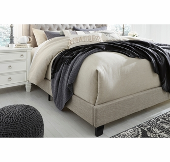 Signature Design Jerary Gray Fabric King Upholstered Bed By Ashley